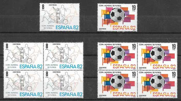 Philately football Spain 1980