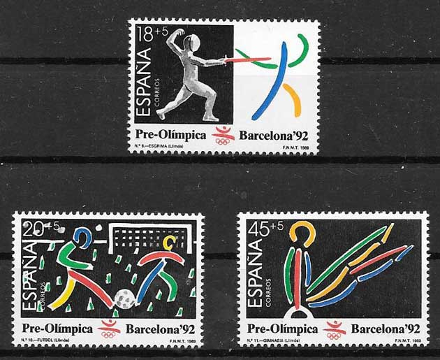 Philately Spain 1989 Barcelona Olympics 92