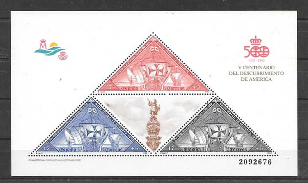 Stamps boat Spain 1992