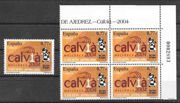 Stamps sport - chess Spain 2004