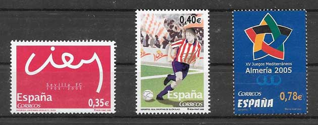Stamp Collection Spain 2005 sport
