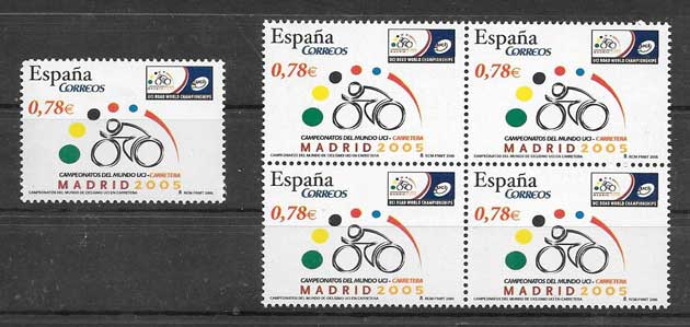 2005 Stamp Collection Spain cycling