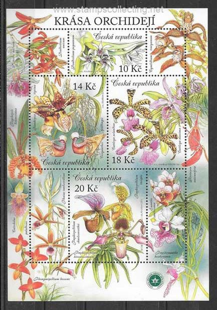 orchids of the 2012 country stamps