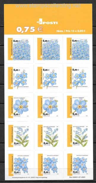 Stamps current national flower series finlandia