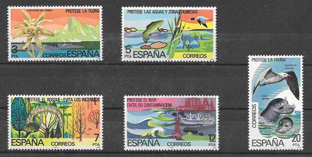 nature conservation stamp Spain 1978