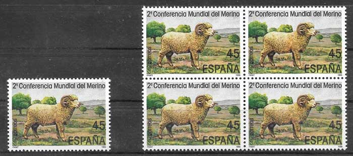 Stamps Spain 1986 World Merino Conference