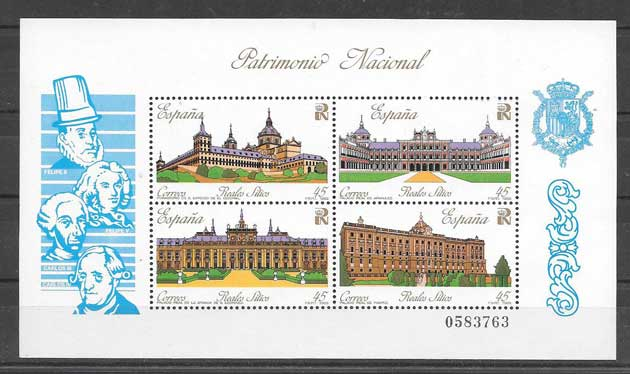 National Heritage Spain stamps 1989