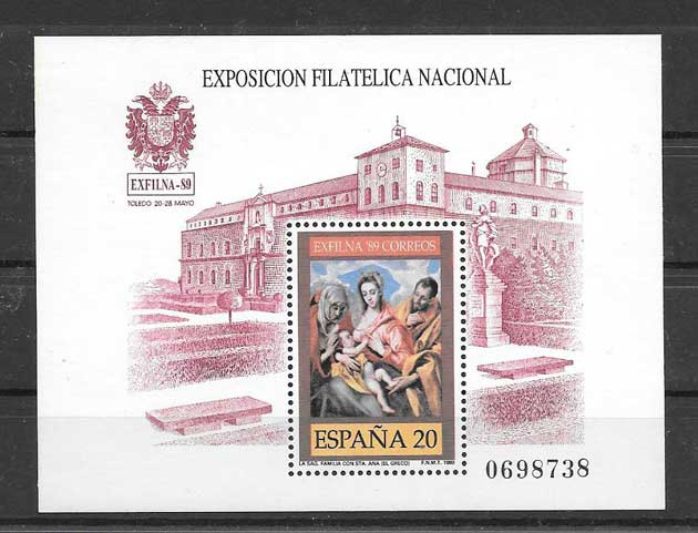 Philately Exfilna 89 Spain 1989