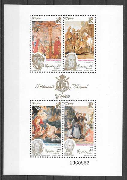 Collecting stamps Nacional- Heritage Tapestry Spain 1990