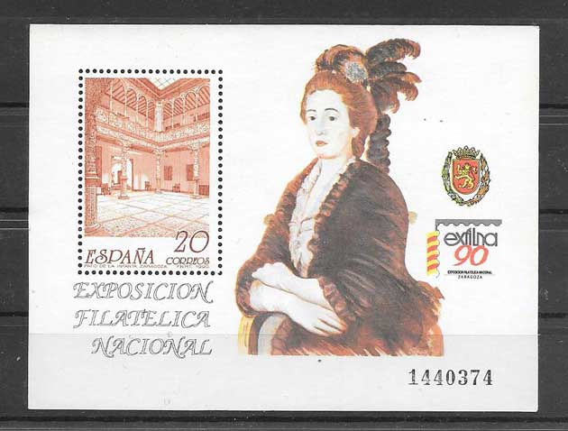 philately stamps Exfilna 90 Spain