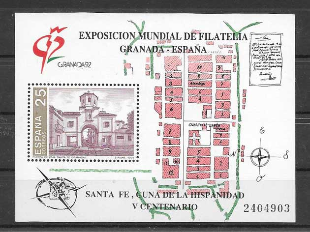 Granada philately stamps philatelic Expo 92