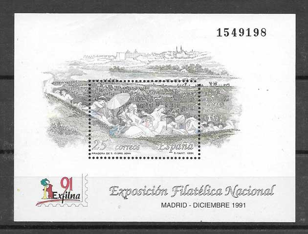 Madrid Stamp collection Exfilna 1991