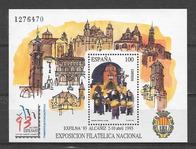 Stamp Collection Spain Exfilna 93