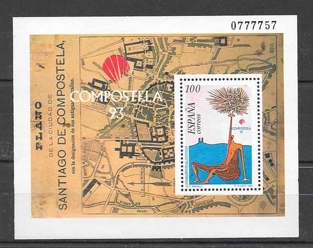 Stamp Collection Compostela 93 Spain