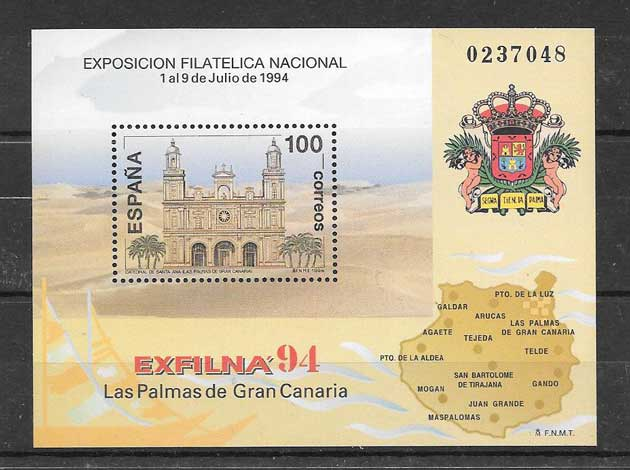 Stamp Collection Spain Exfilna 94