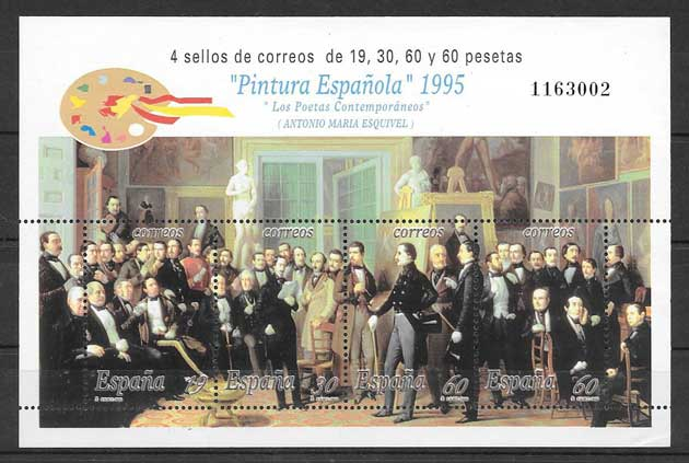 Spanish painting philately 1995