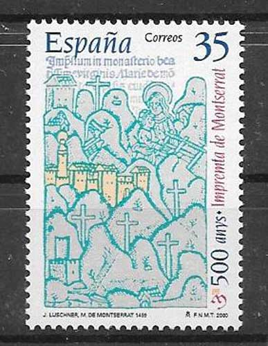Architecture stamp Spain