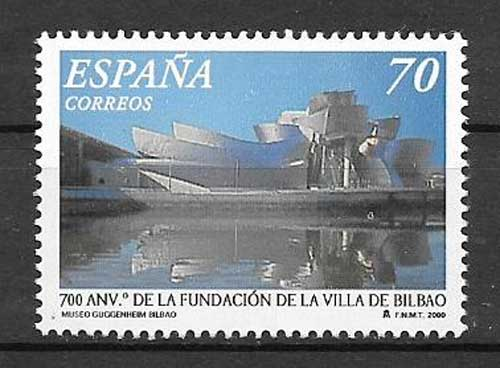 Stamp commemorating the 700th anniversary of the Villa de Bilbao