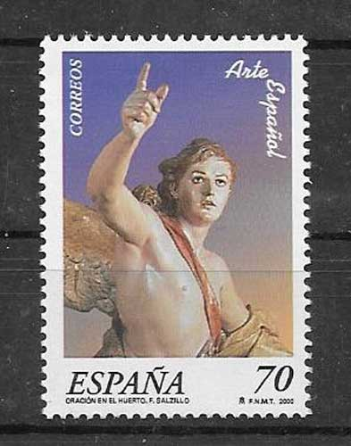 Stamp Philatelic Spanish Art 2000