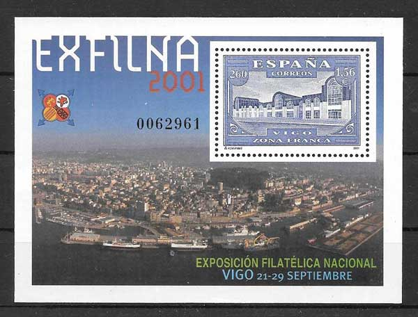 Seals EXFILNA 2001 National Philatelic Exhibition held in Vigo