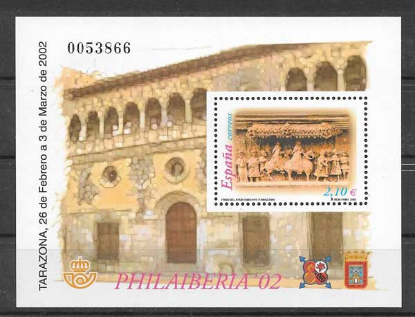 Spring bloc National Philatelic Exhibition 2002 PHILA IBERIA Spain