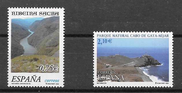 Nature stamps of Spain 2002