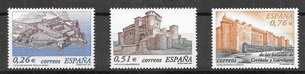 Stamps the Castles diversity of Spain 2003