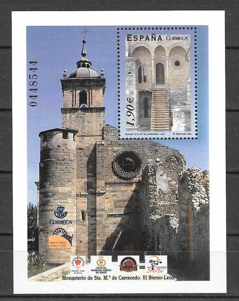 stamp collection Spanish Monastery