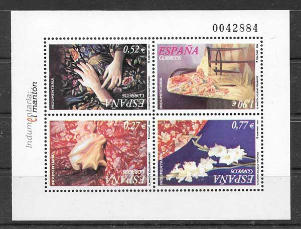 Philately Apparel Shawl Spain 2004
