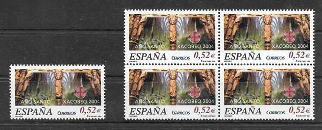 Philately Spain Xacobeo 2004 Holy Year