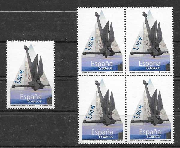 Stamps Museum anchors Spain 2004