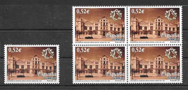 Stamps Spain 2004 Centenario building Casino