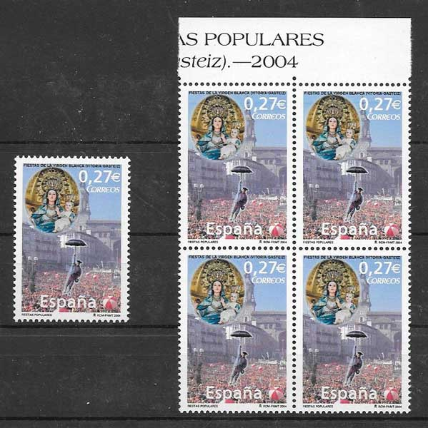 Spain philately 2004 festivals