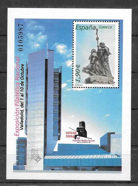 Stamp Collection Spain 2004 Exhibition Exfilna