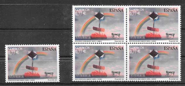 Collection Timbres Espagne 2004 UPAEP