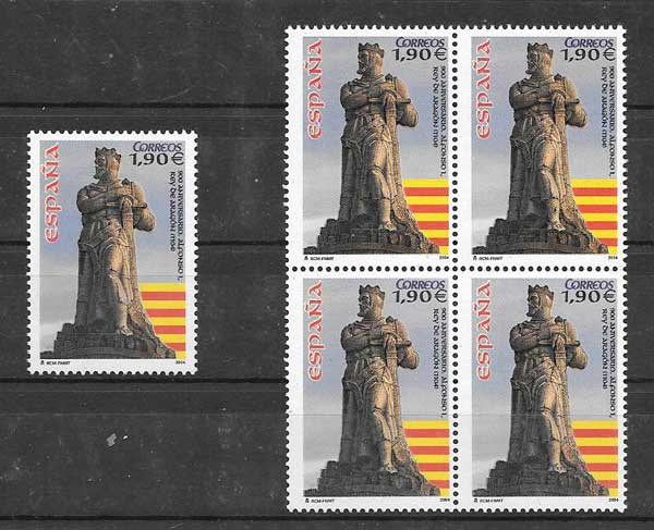 Collection Timbres 2004 Monument Espagne