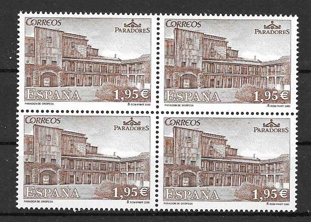 Stamps Tourism Hotels Spain 2005