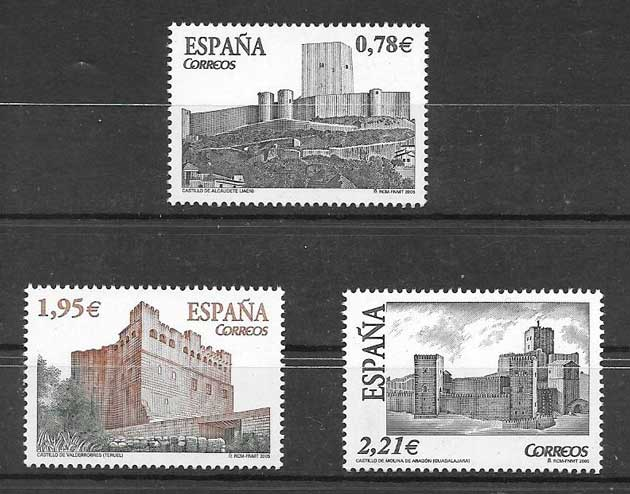 Stamps Castles of Spain