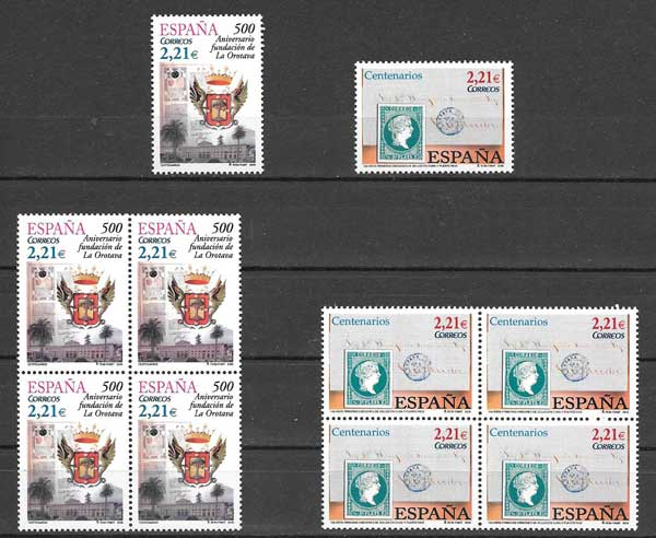 Spain 2005 issue stamps Anniversaries