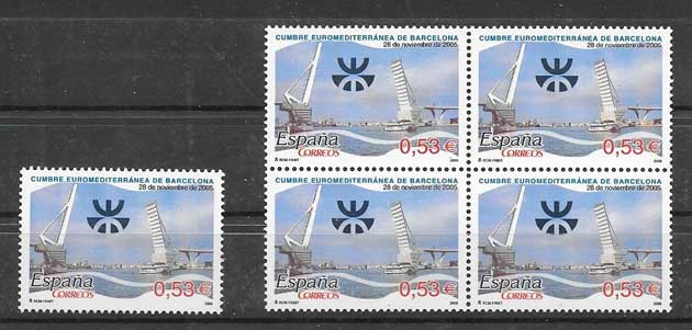 Stamps Spain Euromed Summit 2005