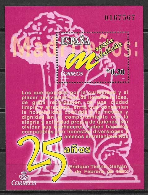 Stamps of Spain 2007