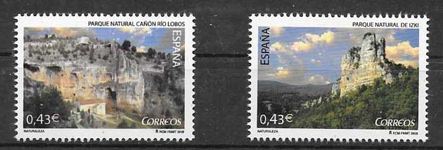 Stamps of Natural Park River Canyon Wolf - Soria and Izki in Alaba