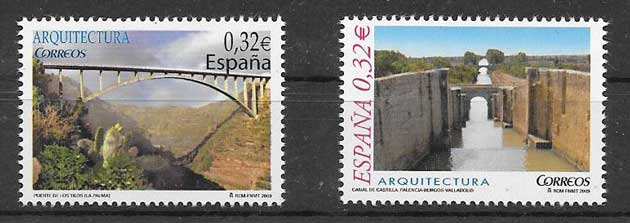 Stamps of the Spanish architecture 2009