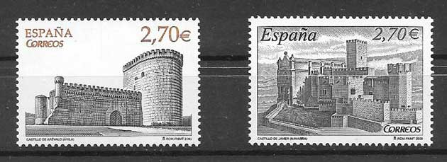 Stamps Castles in Spain 2009