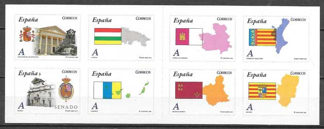 Collection stamps Autonomous Communities Spain 2010