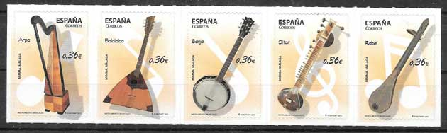 Stamps philately art Spain 2012