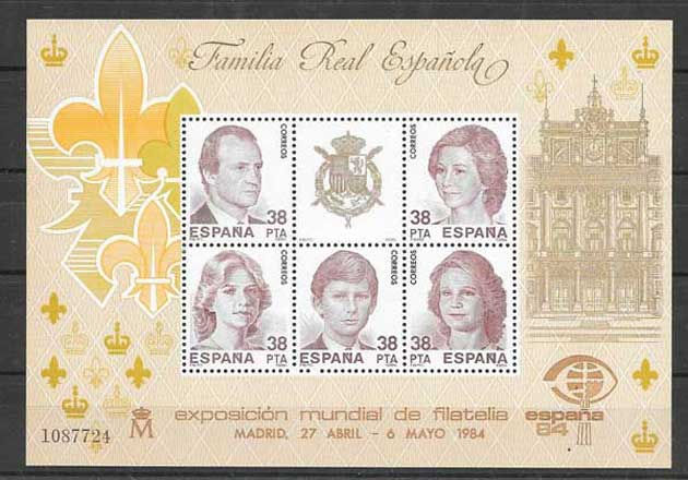 Stamps of the Spanish Royal Family-1984-01