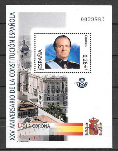 10 sheets Block XXV Anniversary of Spanish Constitution