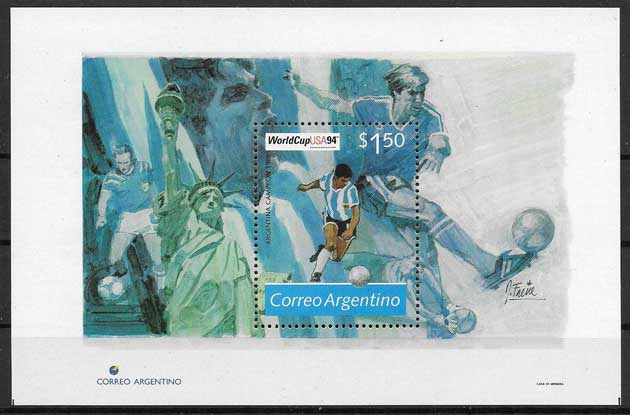 Stamp of football Argentina 1994