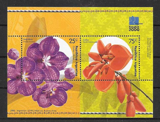 Stamps Bangkok Philatelic Expo Argentina 2000